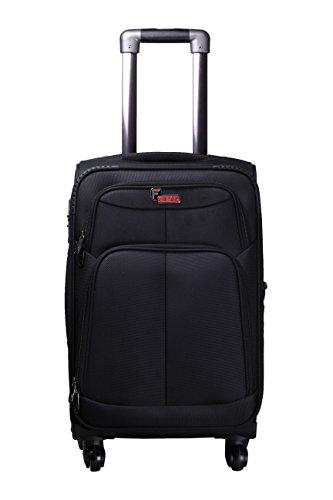 F Gear Crystal Black Polyester 20 inch trolley bag