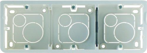 Legrand LEG80283 Cadre pour 3 x 2 modules montage vertical profondeur 40 mm Mosaic
