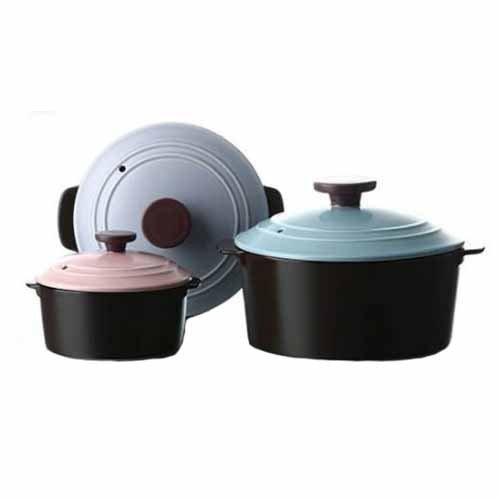NEOFLAM Neo Ceramic Dandy 3 Set Pots 12cm 16cm 18cm (s1001530) kitchen cooking pot item by Neoflam