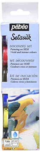 - PEBEO Setasilk Silk Painting Discovery Collection, 6 Assorted 20-Milliliter Colors