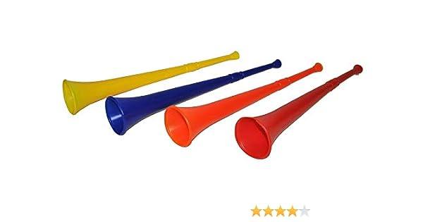 Cuerno Fan Vuvuzela 47 cm azul – calidad coolminiprix®: Amazon.es: Juguetes y juegos