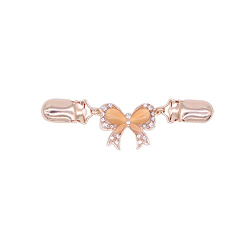 YouCY Butterfly Sweater Clip Diamond Sweater Shawl Clip Dresses Cardigan Collar Clip Jewelry Accessorie for Women Girls,Rose Gold