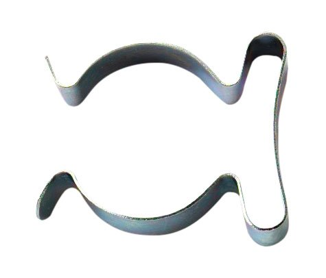 4 BZP Spring Steel Tool Clips Terry Grip 16-24mm (5/8-1 inch) - Pack of 10 ()