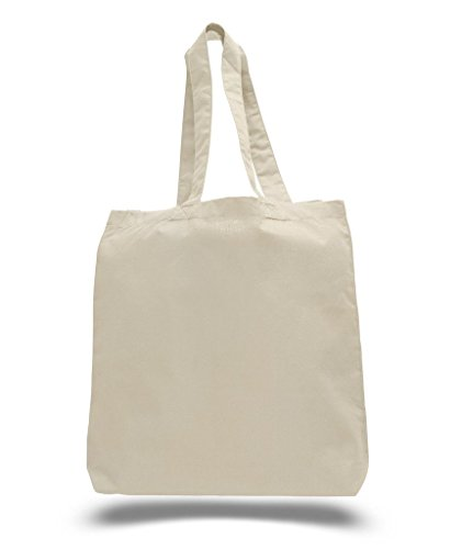 (3 PACK) BagzDepot Eco Friendly Natural Cotton Canvas Tote Bag 15 X 16 X 3 Shopping Bag, Craft Bag, Beach Bag, Grocery Bag, Travel Bag, Tote Bag fo…