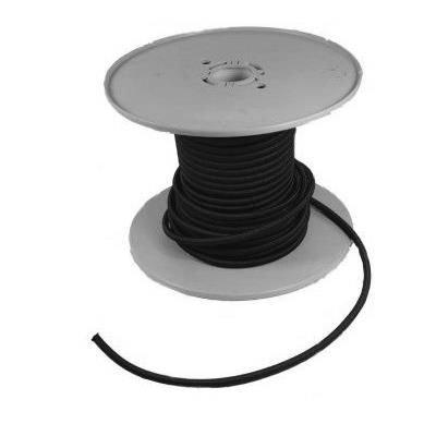 Preis pro Meter Bootskiste Gummileine in schwarz /Ø 3 mm
