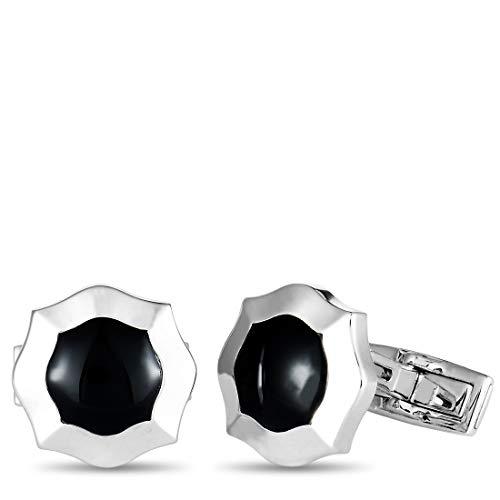 - Luca Carati D-Duke 18K White Gold Onyx Octagon Cufflinks