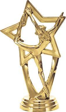 Black Glimmer Dance Star Trophy Awards Prime 11 Inch Dance Star Trophies
