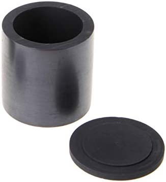 Dumadf Graphittiegel Graphittiegelbecher mit Deckel Laborbedarf für das Schmelzen von Gold-Silber-Kupfer-50x55mm-55ml