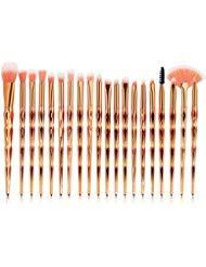 Gold Cosmetic Brush - Eye Brush Set, 20 pcs Unicorn Eyeshadow Eyeliner Blending Crease Kit Makeup Brushes Make Up Foundation Eyebrow Eyeliner Blush Cosmetic Concealer Brushes (Rose Gold)