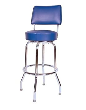1957 Inspired Floridian Swivel Counter Stool – Blue