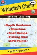 Fishing Hot Spots Map of the Whitefish Chain of Lakes