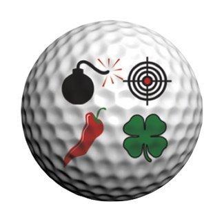 Amazon Com Golfdotz Stickers Decoratifs Pour Balles De Golf Noir