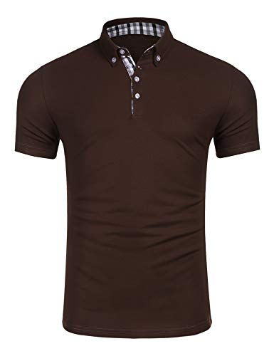 COOFANDY Mens Short Sleeve Polo Shirts Slim Fit Casual Golf Polo Shirt