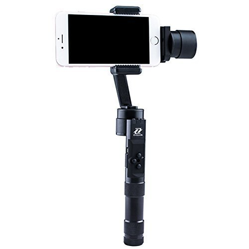 Zhiyun Z1-Smooth Multi-function 3-Axis Handheld Steady Gimbal PTZ Camera Mount Built-in Independent IMU Module Stabilizer for all Smart Phones within 7' Screen, such as iPhone 6 plus, 6, 5S, 5C, SAMSUNG Galaxy S6 edge, S6, S5, S4, SIII, Note 4, 3, A7, A5, A3, Motorola, Sony, Sony Ericsson, Blackberry