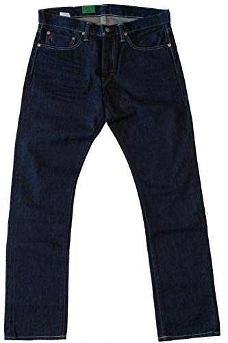 Polo Ralph Lauren Riverside Slim Straight Men's Denim Jeans (Dark Wash, 33/32)