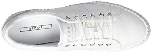 Esprit Silvana Lace Up - Zapatillas Mujer Blanco (100 White)