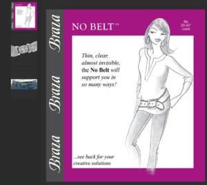 Vinyl Waist Belt - Braza No Belt - Invisible, Adjustable, Clear Fits 20