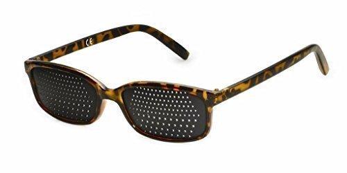 Gafas estenopeicas 415-IMB - bifocales Rejilla - marrón mármol - Incl. Accesorio BioTec