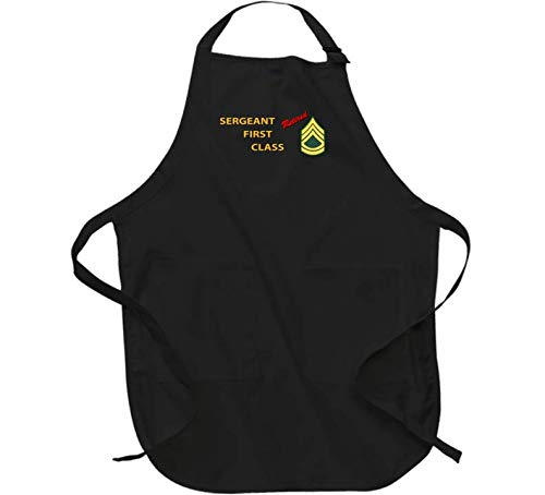 Army - Sergeant First Class - Retired Italic - Apron - Black