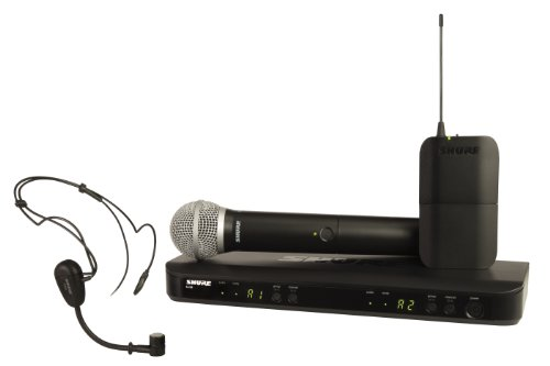 Pg30 Headset System - Shure BLX1288/PG30 Wireless Combo System with PG30 Headworn and PG58 Handheld Microphones, H8
