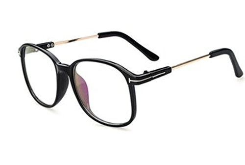 Color:Black # Large Oversized Clear Plain Lens Vintage Retro Glasses Eyewear Frame by - Oakley Frameless Glasses