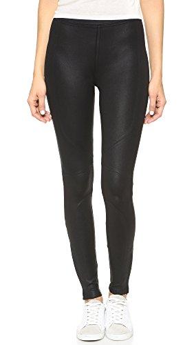 David Lerner Women's New Seamed Legging, Coated Black, S