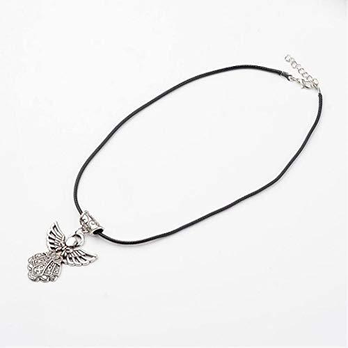 - DOZOGU Women Jewelry Charm Chain Pendant Vintage Girl Antique Alloy Necklace Jewelry Gift 17.5
