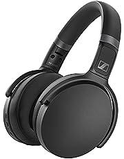 Sennheiser HD 450BT Wireless-Over-Ear-Kopfhörer mit aktiver Noise Cancellation, Sprachsteuerung und langer Batterielebensdauer, Schwarz