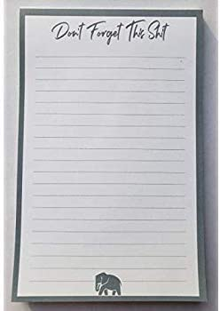 Honey Do List Large 8.5 x 5.5 inches Funny Gift Idea To-Do List 50 Sheets Grocery List with Magnet Dont Forget This Shit Note Pad
