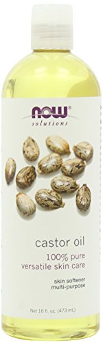 NOW Solutions Castor Oil, 100% Pure, 16 ounce (Pack of 3)