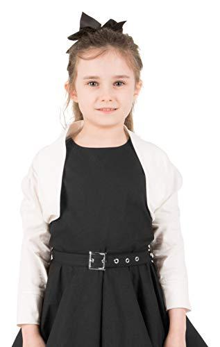 Half Sleeve Bolero Childrens Girls Shrug Cardigan Top (Ivory, 9-10 YRS) ()