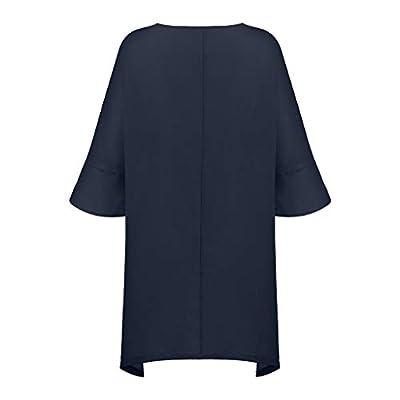 COOKI Women Casual T Shirt Dresses Solid Cotton and Linen Beach Irregular Loose Mini Dress Summer Sundress Swing Party Dress at  Women's Clothing store