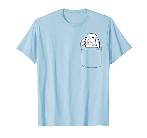 (Rabbit Pocket Funny Pocket Bunny Women Girls Boys T-Shirt)