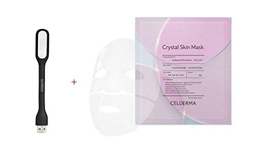 CELDERMA Crystal Skin Mask: Pretty Transparent Hydrogel Pack Tightly fitted perfectly like my skin (23gx5) + Ochloo logo tag led