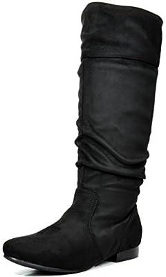 DREAM PAIRS Women's BLVD/Beltran Knee High Boots (Wide-Calf)