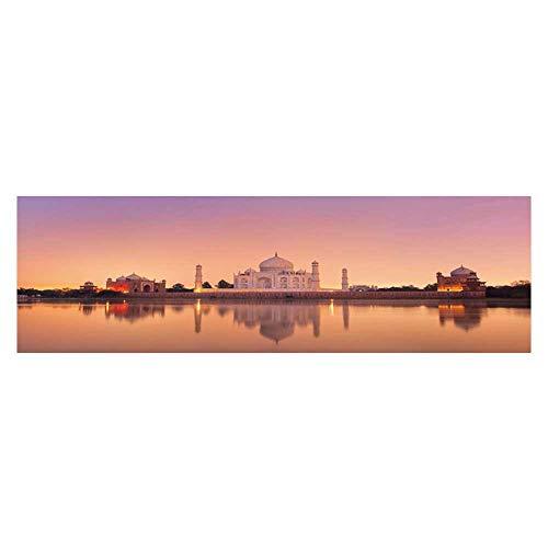 (Dragonhome Background Fish Tank Decorations taj Mahal in Agra India on Sunset Fish Tank Wallpaper Sticker L23.6 x H19.6)