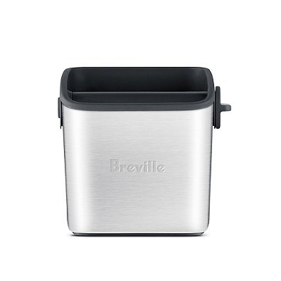 Breville Knock Box (Breville Knock Box Mini in Stainless Steel Construction - Dishwasher Safe)