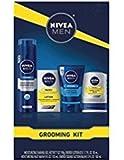 Nivea Men Grooming Kit, Gift Set Includes Balm, Shave Gel, Face Wash, Lotion