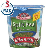 Dr Mcdougall'S Split Pea Barley Big Soup Cup 2.5 Oz (Pack of 6)