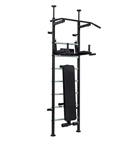 Home Gym Energy: Weight Bench – Incline AB Bench – Pull Up Bar – Dip Bar – Chin Up Bar – Indoor Swedish Ladder – Fitness Station – Wall or Ceiling & Floor Mount – Load Capacity up to 120 kg/260 lbs.