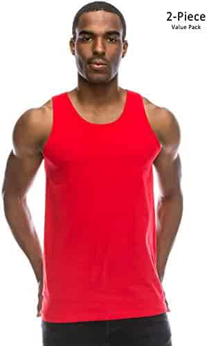 f597feb392a0a JC DISTRO Mens Basic Solid Tank Top Jersey Casual Shirts (Size Upto 3XL