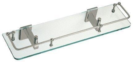 - C.R. LAURENCE P1N812BN CRL Brushed Nickel Pinnacle Series 18 Glass Shelf by C.R. Laurence