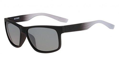 Nike Golf Cruiser Sunglasses, Matte Black/Wolf Grey Fade Frame, Grey with Silver Flash - Glasses Fade Grey