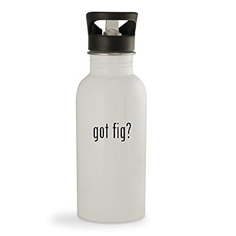 got fig? - 20oz Sturdy Stainless Steel Water Bottle, White - Kalamata Vinegar