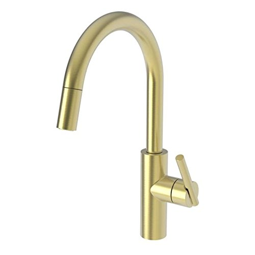 Newport Brass 1500-5113/04 Pull-Down Kitchen Faucet Satin Brass - Pvd East Linear ()