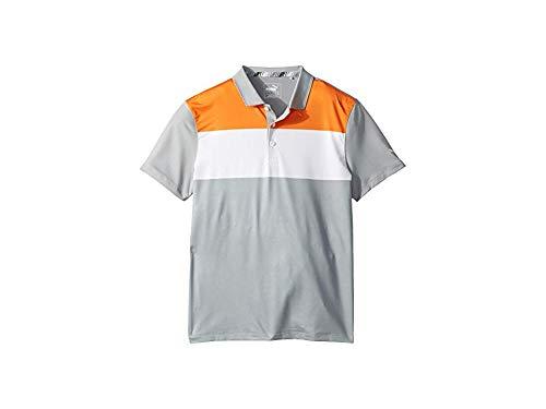 Puma Golf Boys 2019 Nineties Polo, Vibrant Orange-Quarry, Medium by PUMA
