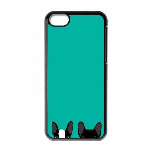 Boston Terrier Y2S45Y2WM coque iPhone 5c case coque black C24PSD