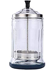 Janedream Sanitizing Manicure Glass Small Glass Salon Disinfection Jar Sterilization Container Sanitizer for Barber Shop