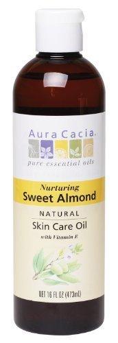 Aura Cacia Aura Cacia Nurturing Sweet Almond Natural Skin Care Oil, 16-Ounce - Natural Cacia Aura