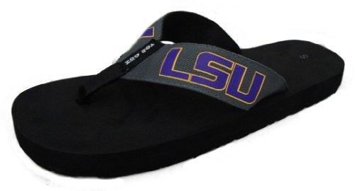 Toegoz Unisex Louisianna State University Graphite Flip Flops Small US